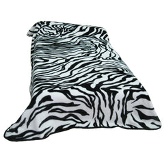 6.5KG - 2PLY High Quality Blankets - Queen Size Zebra Print
