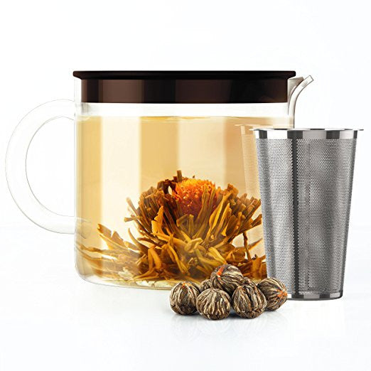 Glass Teapot + Blooming Tea Set