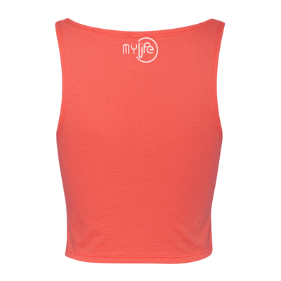 Sunday Funday Women's Cropped Tank - My Life Fitness