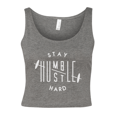 Stay Humble Hustle Hard Women's Cropped Tank - My Life Fitness