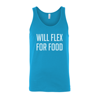 Will Flex For Food Unisex Tank