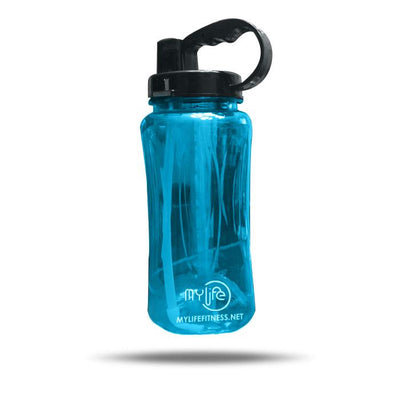 Water Bottle | 2000ML (.528 Gallon) with Straw, Handle, and Carrying Strap