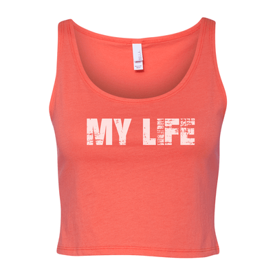 My Life White Brick Logo Women's Cropped Tank