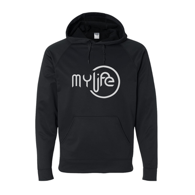 My Life White Circle Logo Pullover Hoodie