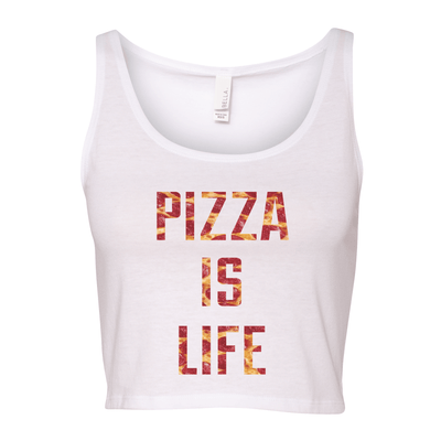 Pizza Is Life Women's Cropped Tank