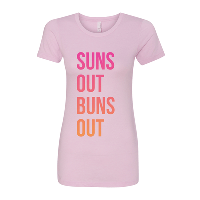 Suns Out Buns Out Women's Crew Tee - My Life Fitness