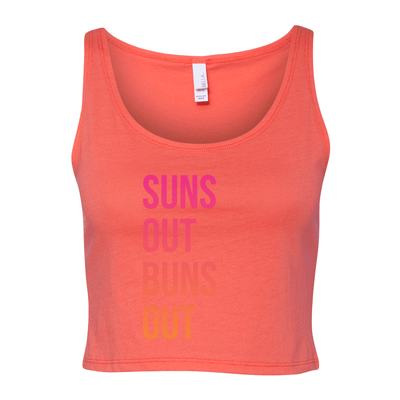 Suns Out Buns Out Women's Cropped Tank - My Life Fitness