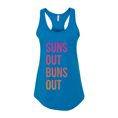 Suns Out Buns Out Women's Tank - My Life Fitness