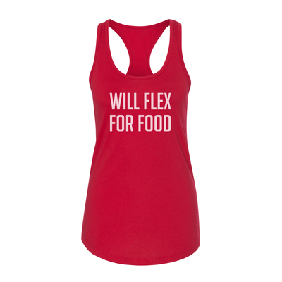 Will Flex For Food Women's Tank - My Life Fitness