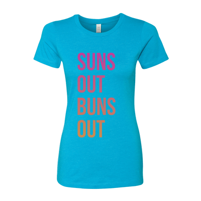 Suns Out Buns Out Women's Crew Tee