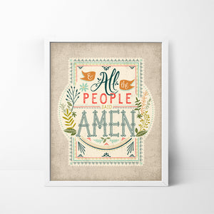 And All the People Said Amen - 8x10 art print