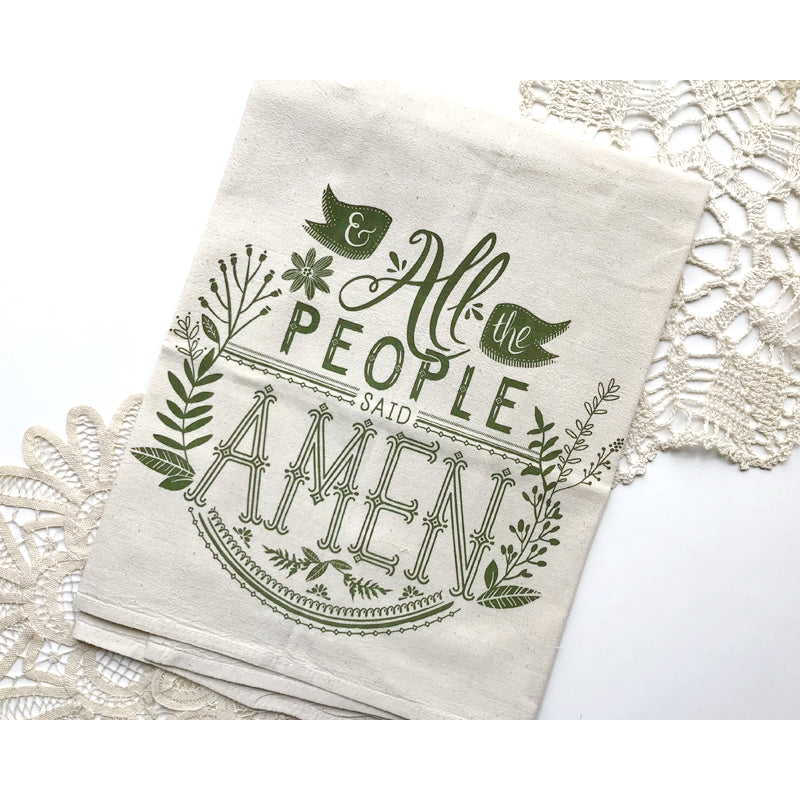 And All the People Said Amen Tea Towel