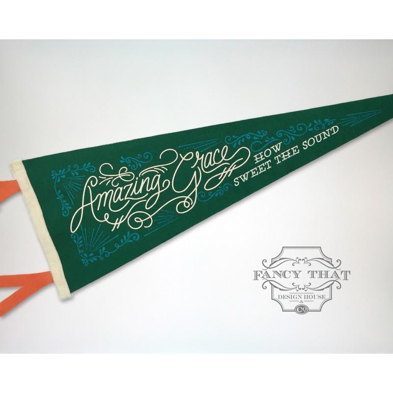 Amazing Grace - Printed Wool Pennant