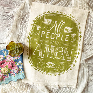 And All the People Said Amen Oval Tea Towel