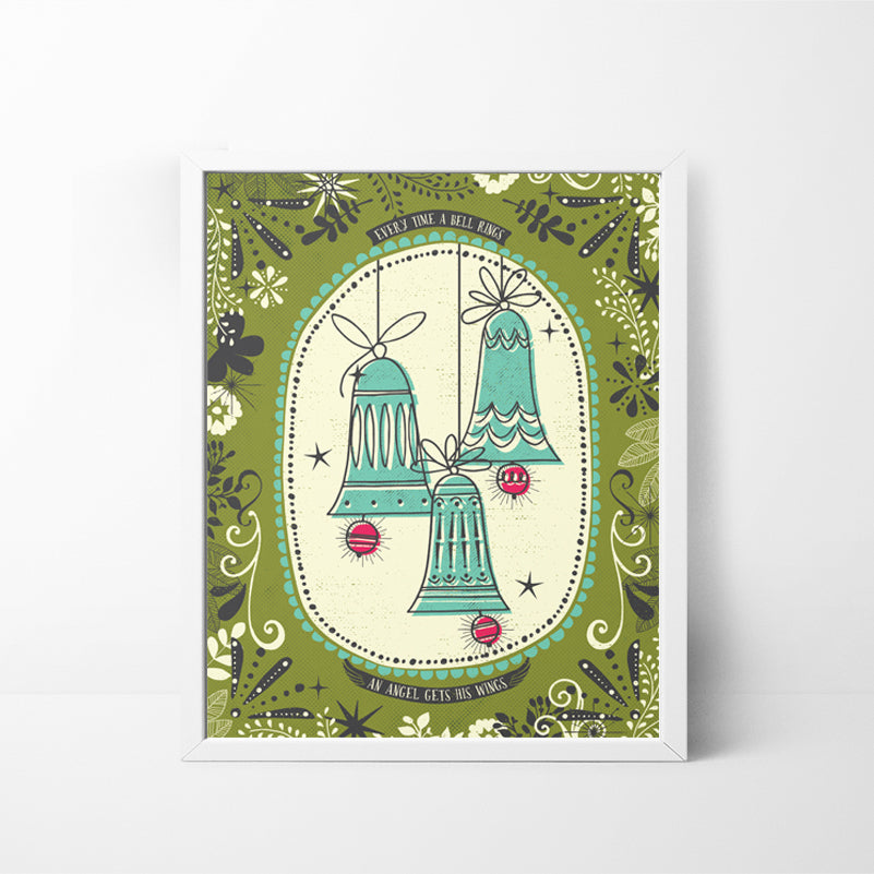 Christmas Bells 8x10 Christmas / Holiday art print
