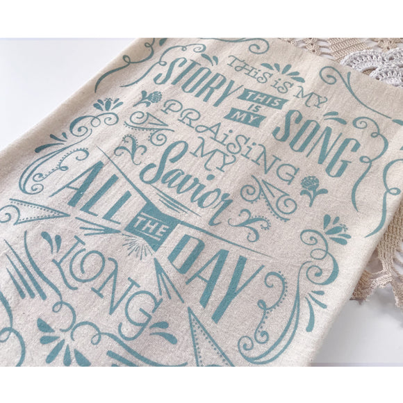 Blessed Assurance / This is my story, this is my song Hymn Tea Towel