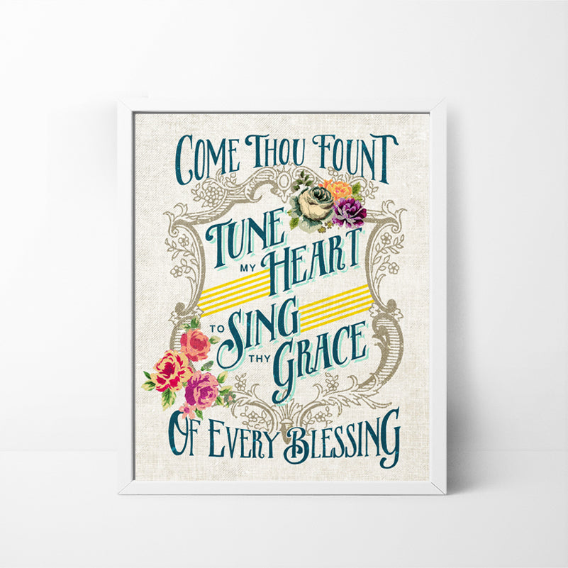 Come Thou Fount of Every Blessing - 8x10 art print