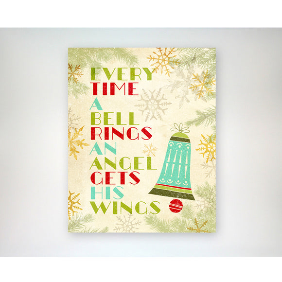 Every Time a Bell Rings 8x10 Christmas / Holiday art print
