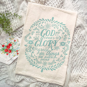 To God be the Glory Hymn Tea Towel