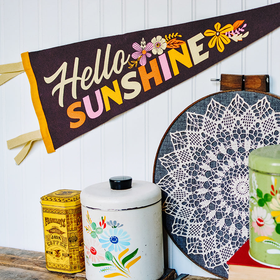 Hello Sunshine - Printed Wool Pennant