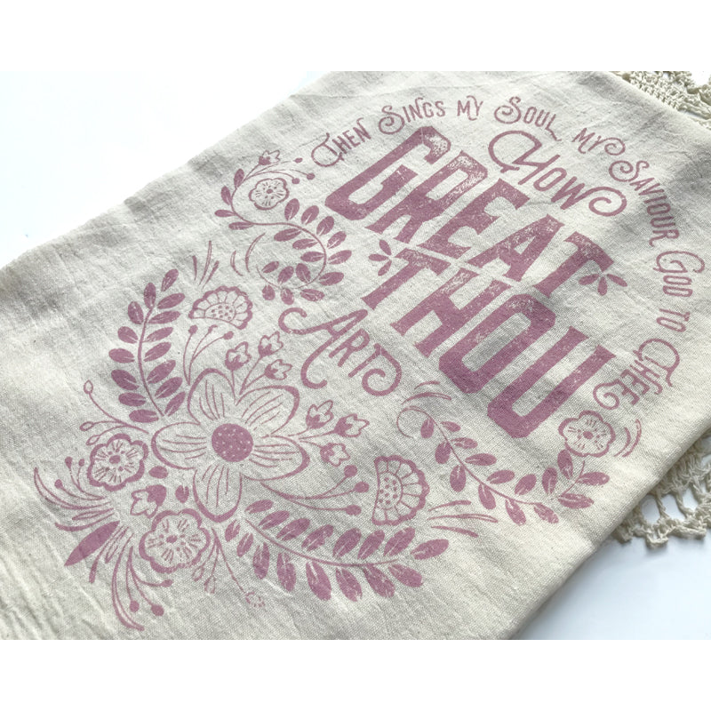 How Great Thou Art Hymn Tea Towel