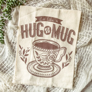 Hug in a Mug Tea Towel