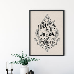 In Christ Alone Art Poster Print