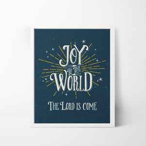 Joy to the World 8x10 Christmas / Holiday art print