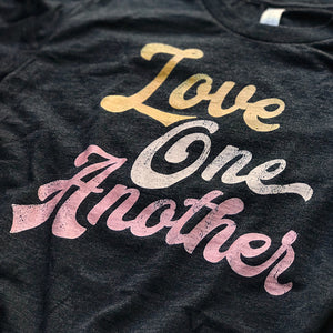 Love One Another script T shirt