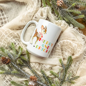 Merry and Bright Deer Christmas Mug