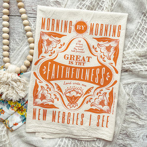 Morning by Morning, Great is Thy Faithfulness Tea Towel