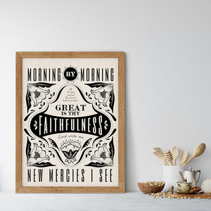 Morning by Morning / New Mercies Art Poster Print