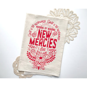 Morning by Morning - New Mercies Hymn Tea Towel