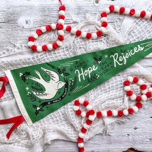 O Holy Night Bird - Wool Pennant