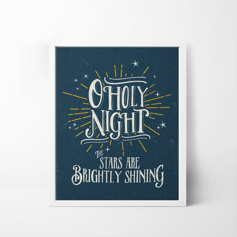 O Holy Night 8x10 Christmas / Holiday art print