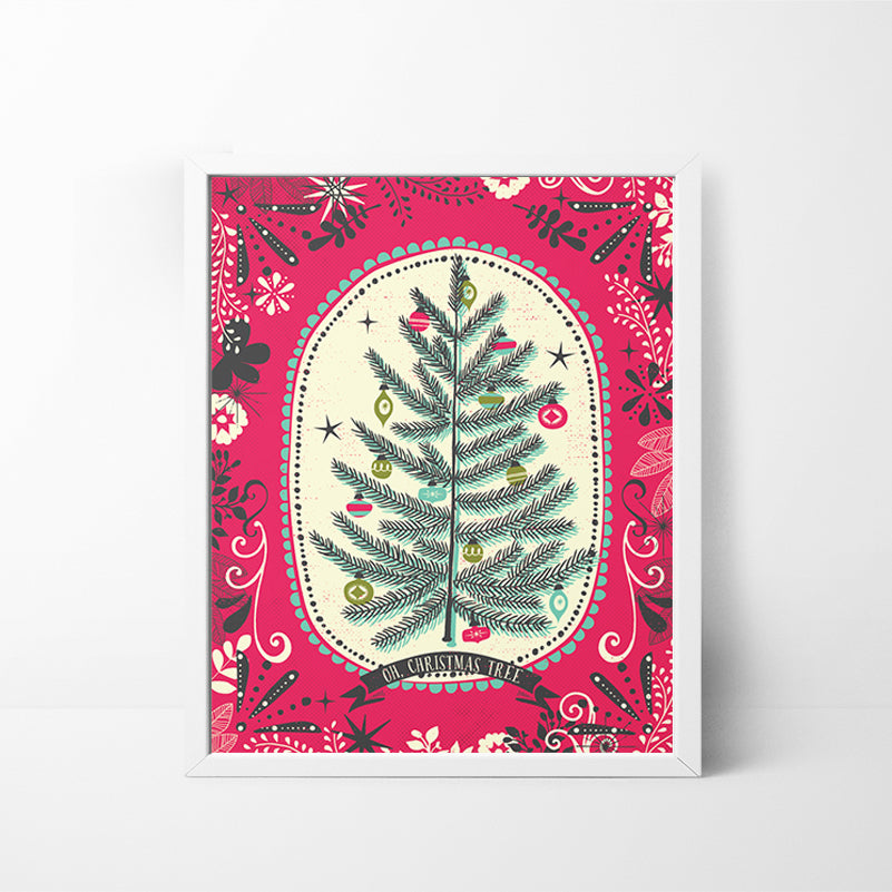Oh Christmas Tree 8x10 Christmas / Holiday art print