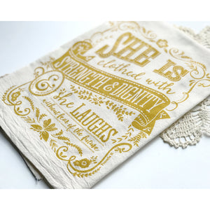 Proverbs 31 - She Is Tea Towel