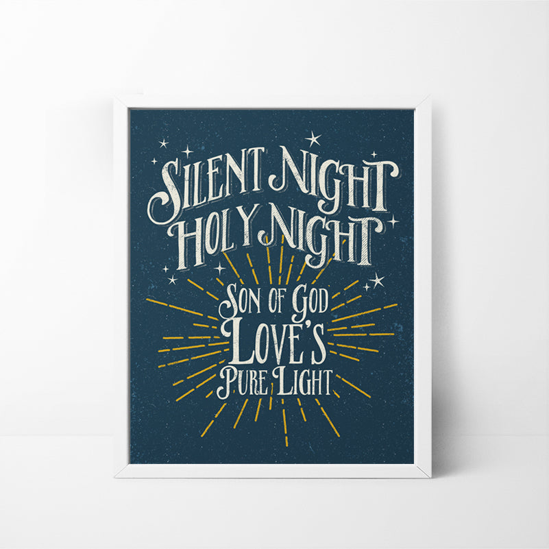 Silent Night, Holy Night 8x10 Christmas / Holiday art print