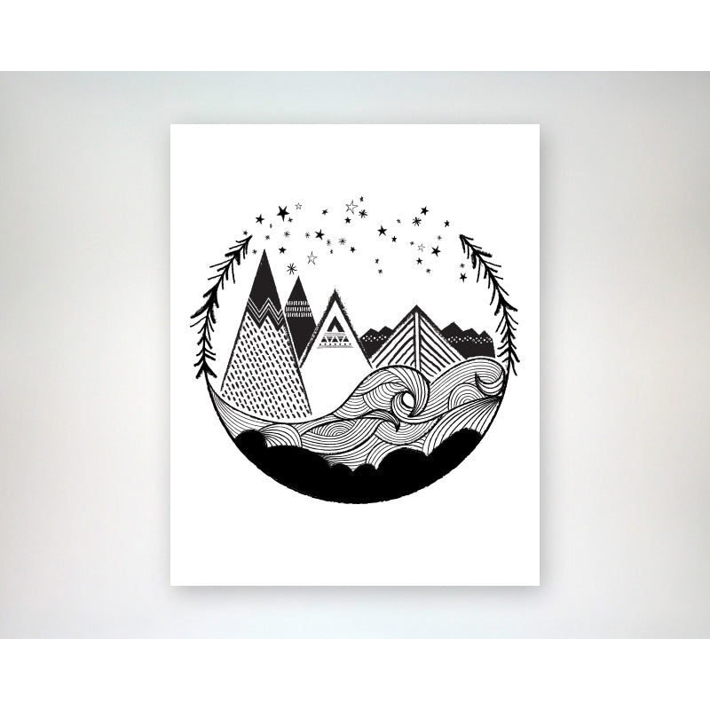 So will i stars mountains oceans hillsong 8x10 art print