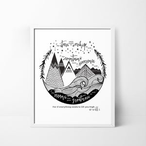 So Will I (Stars, Mountains, Oceans) - Hillsong 8x10 art print