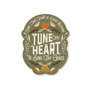 Tune My Heart Sticker