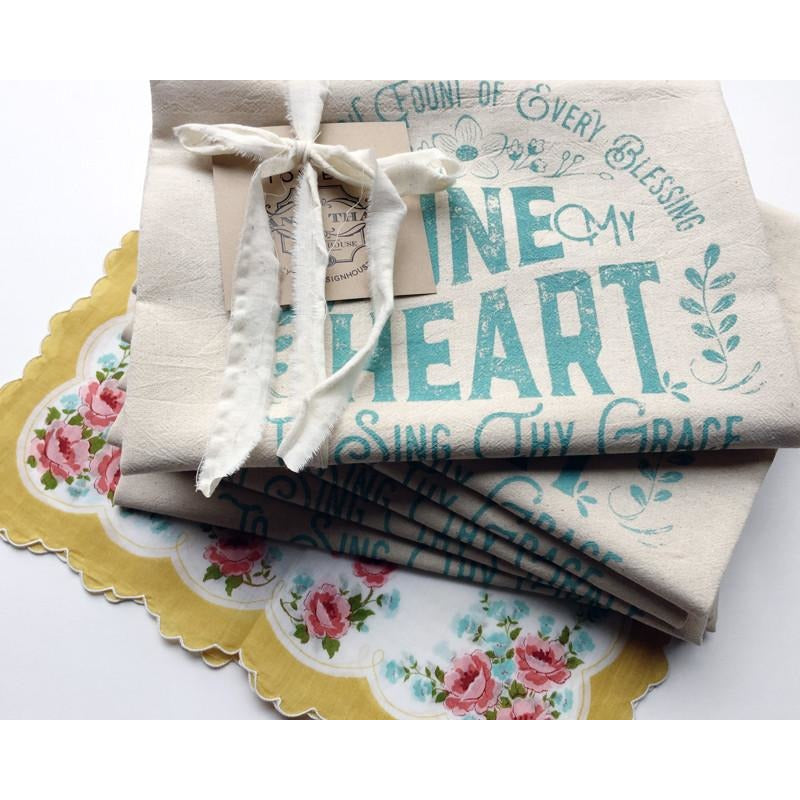 Come Thou Fount / Tune My Heart Hymn Tea Towel
