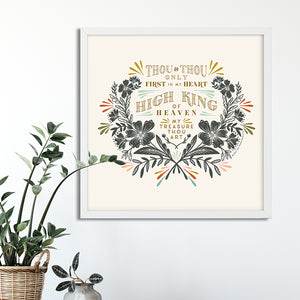 Thou & Thou Only (Be Thou My Vision) Art Poster Print