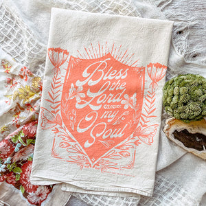 Bless the Lord O My soul Hymn Tea Towel