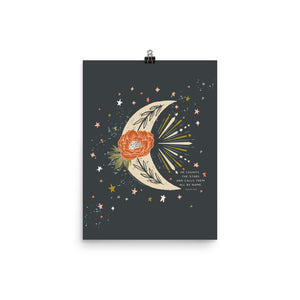He Counts the Stars Art Poster Print