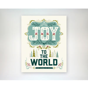 Joy to the World Christmas / Holiday art print