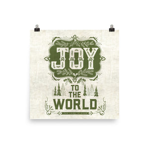 Joy to the World Art Poster Print