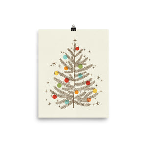 Christmas Tree Art Poster Print