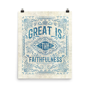 Great Is Thy Faithfulness Art Poster Print