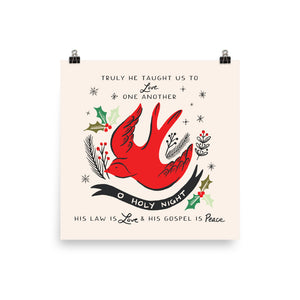 O Holy Night Bird Art Poster Print
